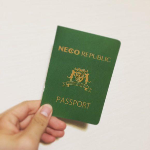 写真:「保護猫カフェ ネコリパブリック広島」のパスポート