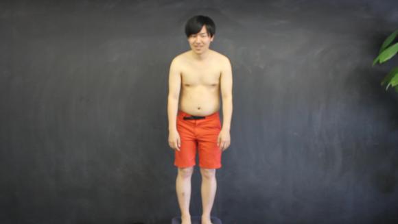 写真:体幹ダイエット トレーニング前