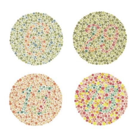 図:石原式色覚異常検査表