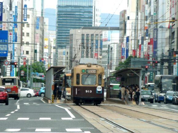 写真:広島の路面電車