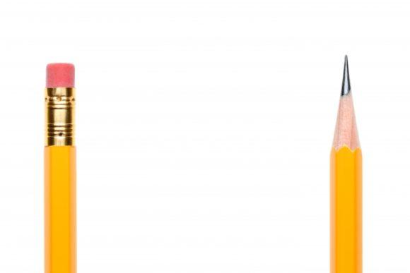 写真:消しゴム付き鉛筆