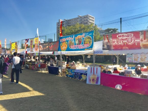 写真:ひろしま国際平和マラソン 出店