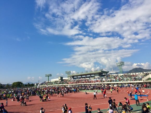 写真:ひろしま国際平和マラソン 開会式会場