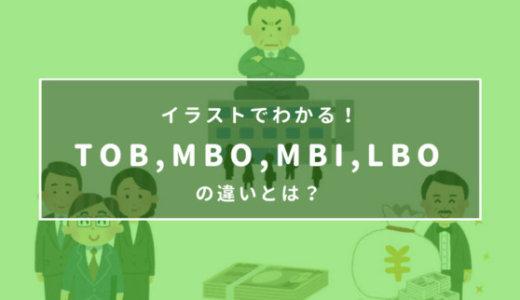 イラストでわかる!TOB、MBO、MBI、LBOの違いとは?